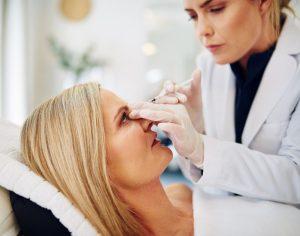 Botox upper eyelid noninvasive blepharoplastyoffered by Dr. Brian Machida, facial plastic surgeon, Inland Empire, CA
